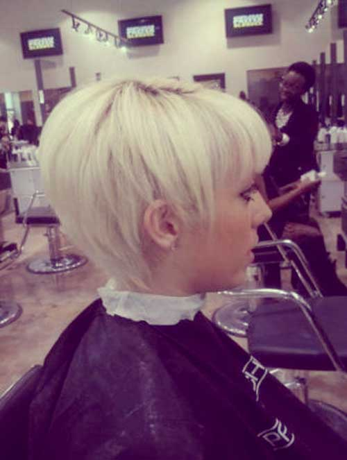 Short light blonde hairstyles
