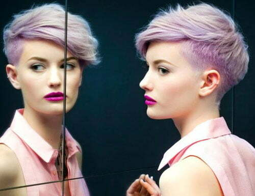 Pink Pixie Cut Hairstyle | Short Hairstyles 2017 - 2018 | Most ...
