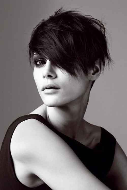 Short messy crop hairstyles