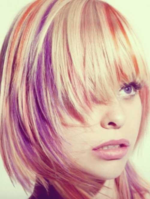 Tremendous Multi Color Short Hair Short Hairstyles Hairstyles For Men Maxibearus