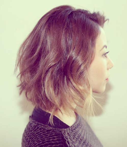 Short hair ombre coloring