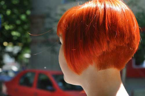 Short orange hairstyles
