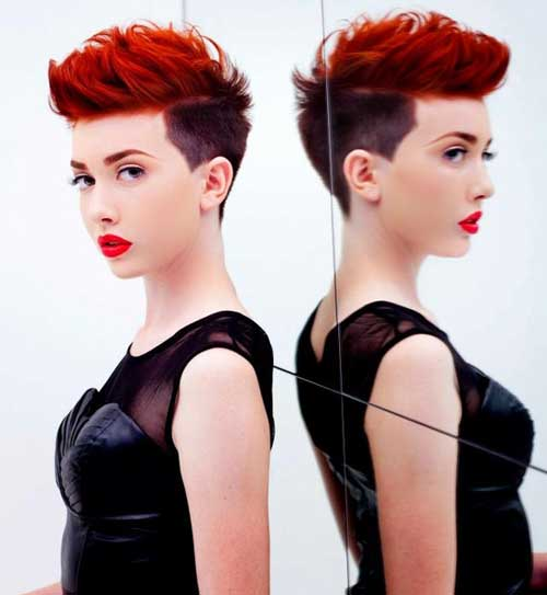 Best short red hairstyles