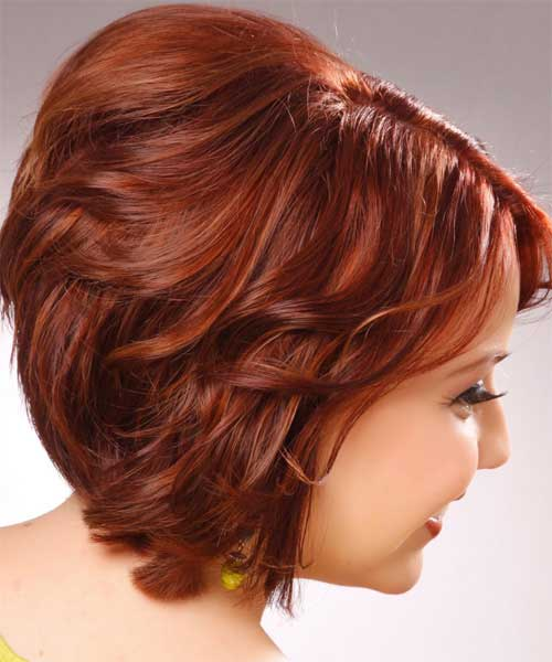 Short haircuts for wavy red hair