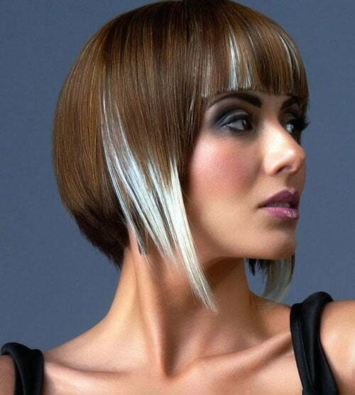 Two tone bob haircut