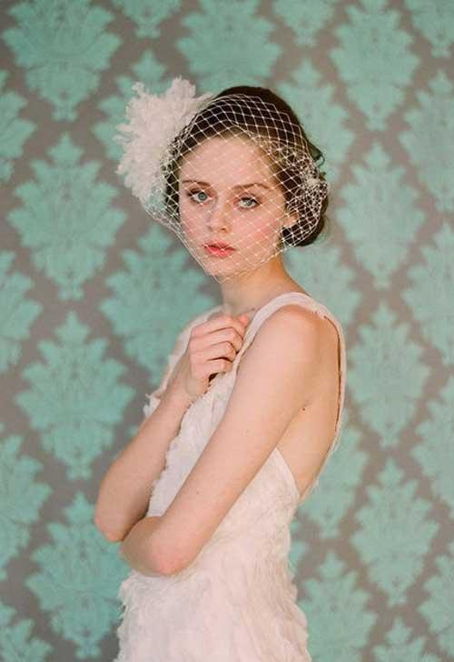 Short wedding hairstyles for brides