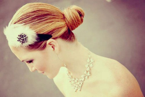 Short hair wedding styles with tiara