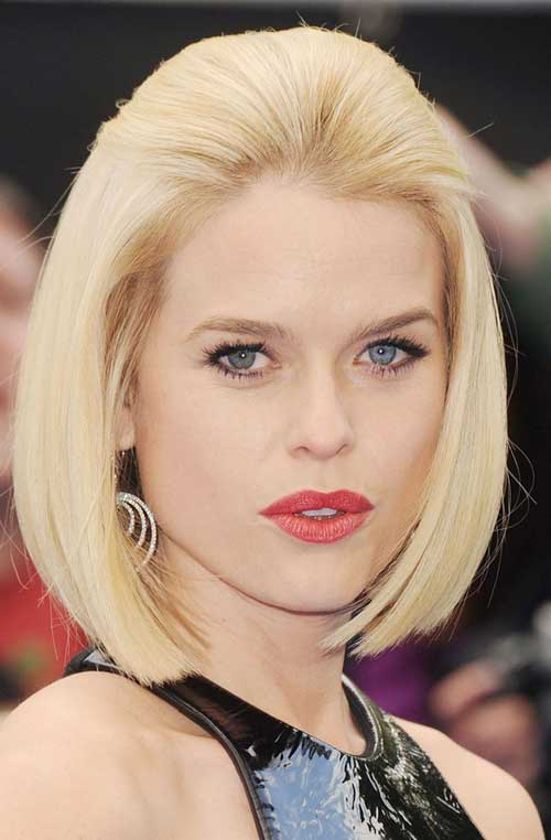 Straight blonde bob hairstyles