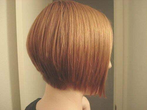 Straight bob haircut