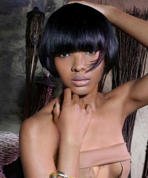 Short straight haircuts for black women