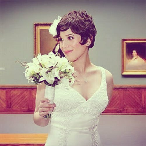 Super Short Wedding Hairstyles-9