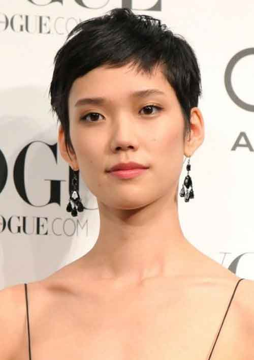 Very short Asian hairstyles for women