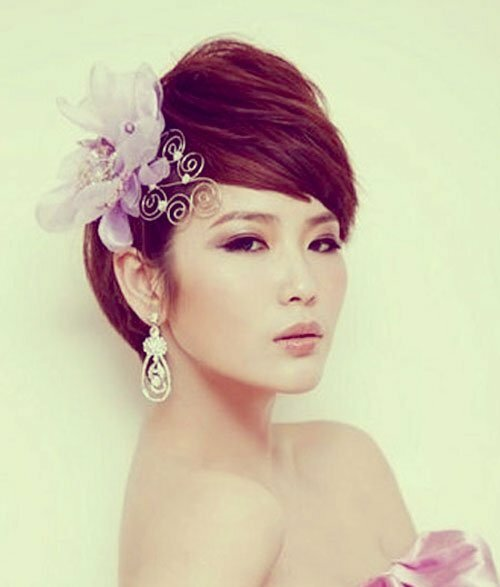 Very short wedding hairstyles for women