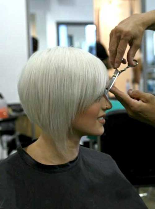 Bob haircuts for white hair