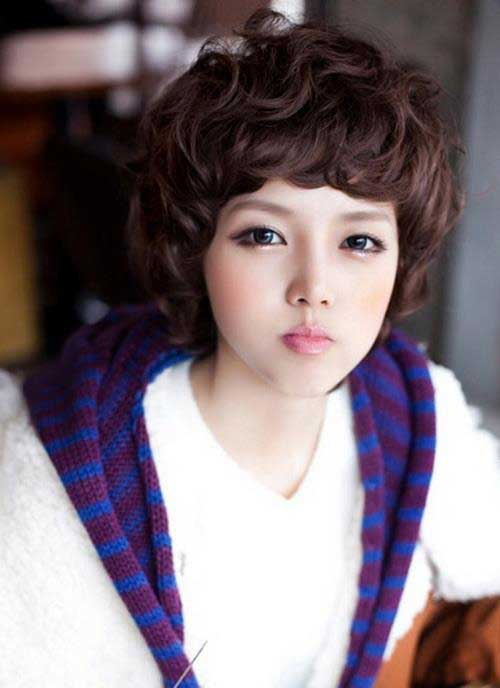 Asian short curly hairstyles 2013