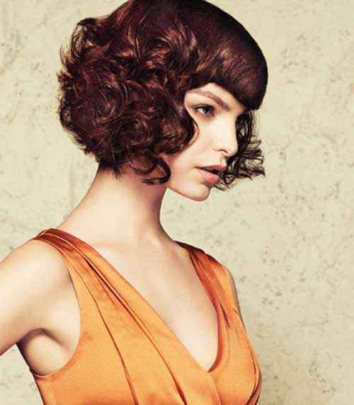 Beautiful Short Curly Hairstyles-7