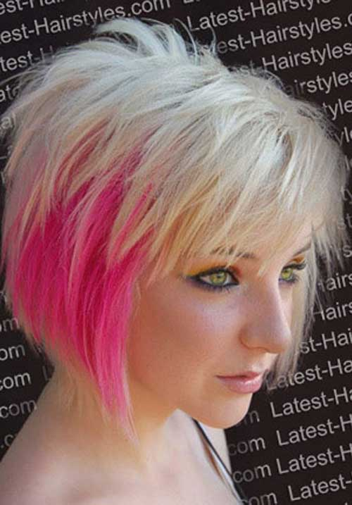 Short Blonde Hairstyles With Pink Highlights | Hair