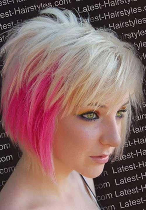 Fabulous Short Blonde Hair Pink Highlights Short Hair Fashions Hairstyles For Men Maxibearus