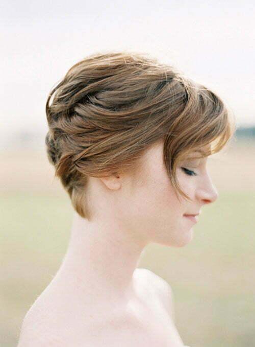 Bridal hair styles for short hair