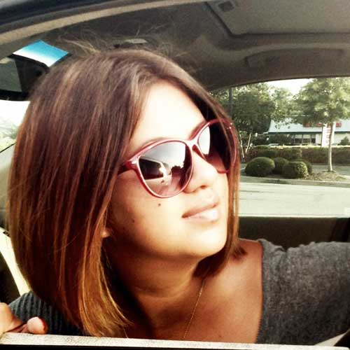 Brunette short straight hairstyles