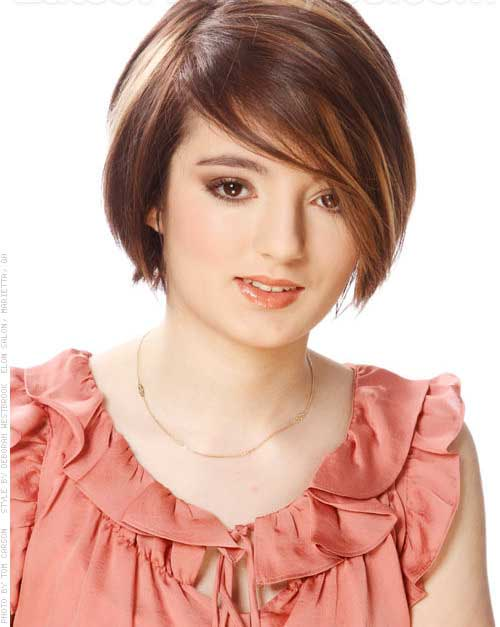 Casual short straight hairstyles for women