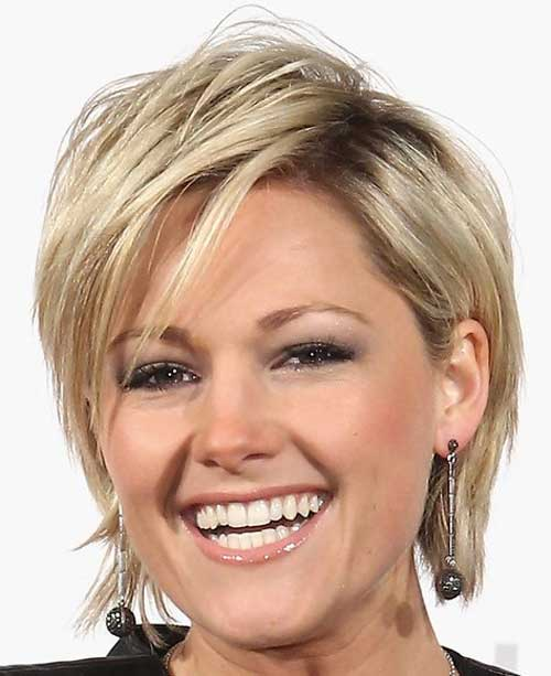 Hairstyles For Short Layered Hair With Side Bangs : ... Styles Short Hairstyles 2016 - 2017 Most Popular Short Hairstyles