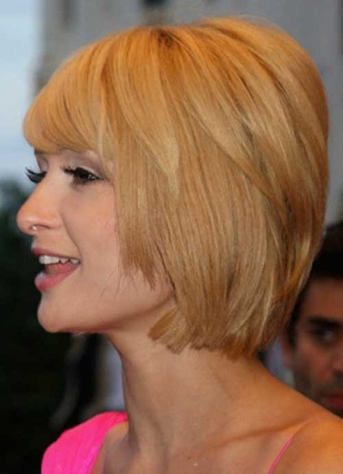 Cute layered bob haircuts with bangs