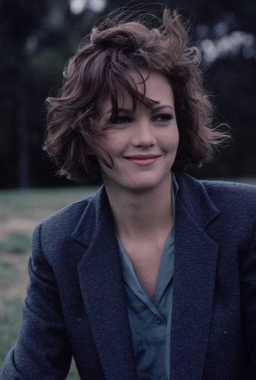 Diane Lane short wavy haircut