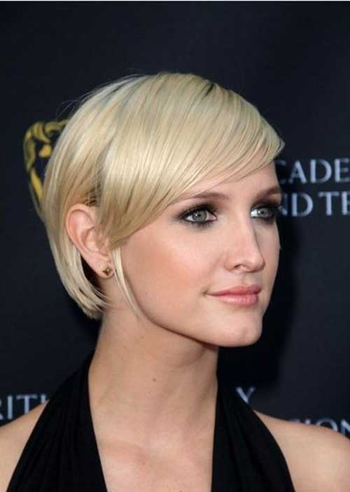 Easy short straight haircut