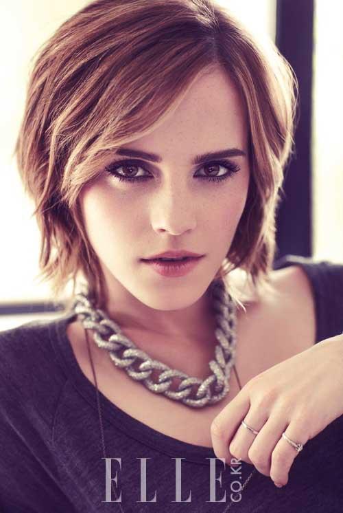 Emma Watson short hairstyle 2013