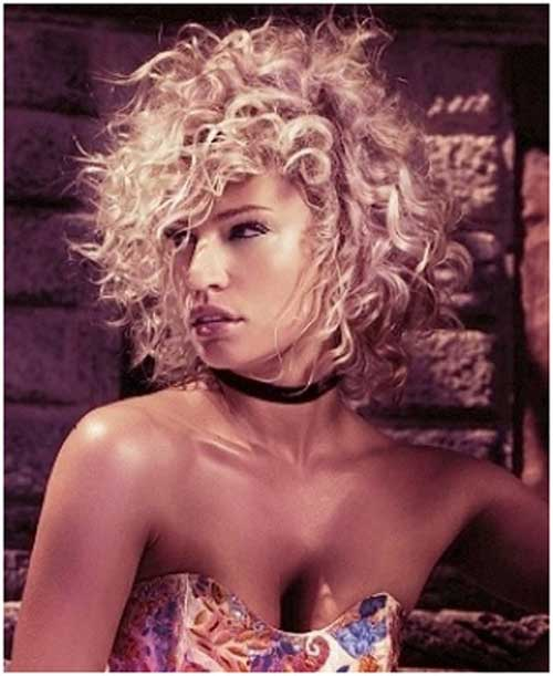 Funky short curly hairstyles 2013