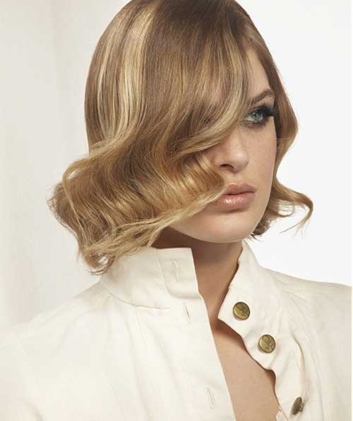 Hairstyle for Short Wavy Hair-1