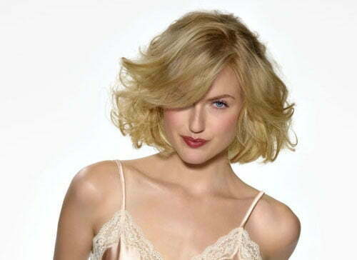 Hairstyle for Short Wavy Hair-3