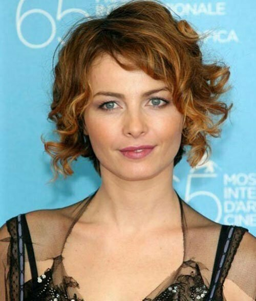 Hairstyle for Short Wavy Hair-6