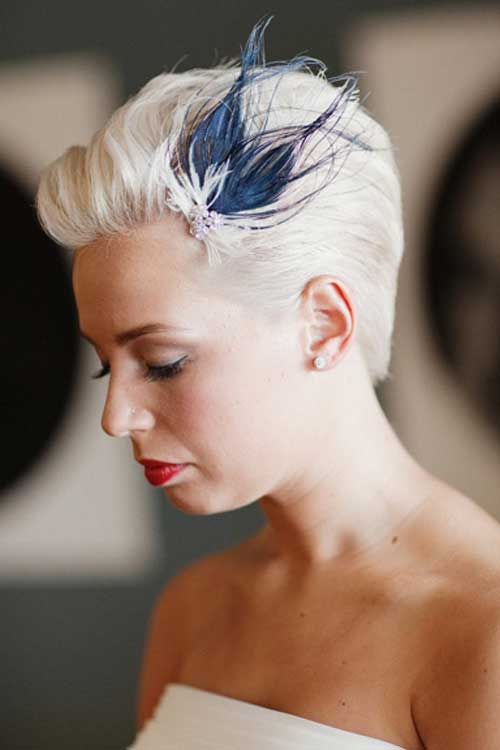 Ideas for short wedding hairstyles