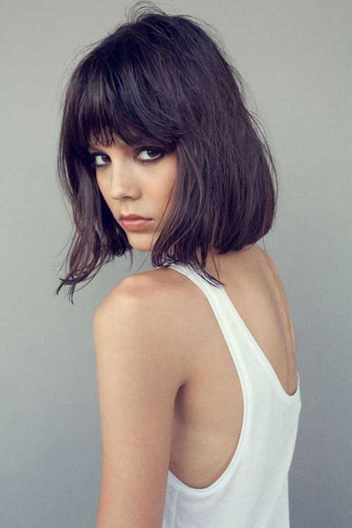 Pictures of short hair with bangs