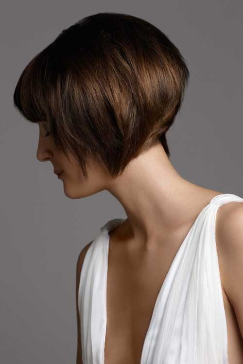 Here is the back view of bob haircut which is too short in length and