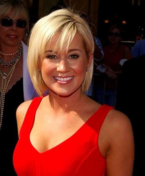Celebrity short blonde hair