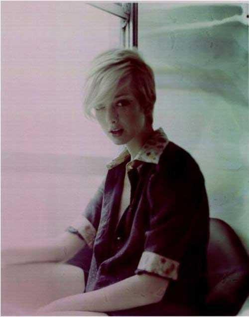 Latest Short Blonde Hairstyles-4