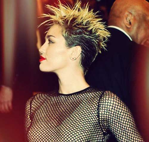 Celebrity short spikey hairstyles
