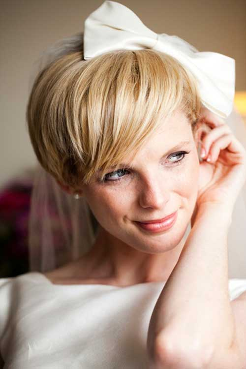 Modern wedding hairstyles for short hair