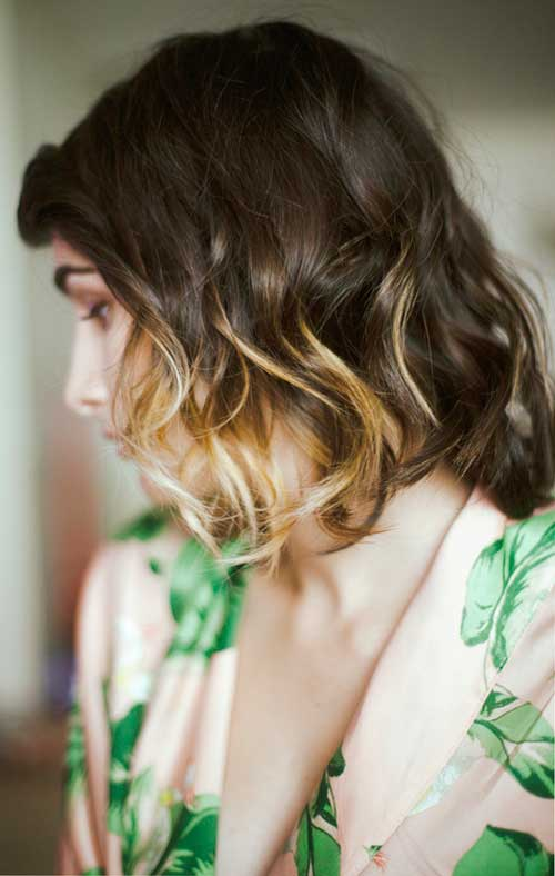 Ombre short hair styles