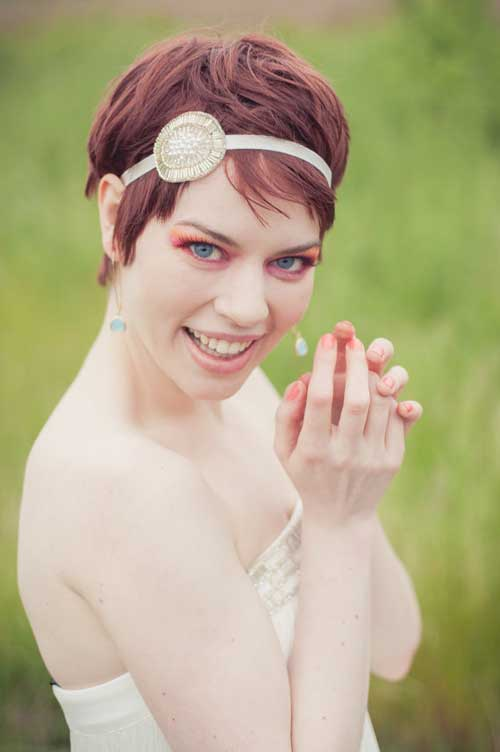 Wedding hairstyles for pixie hair