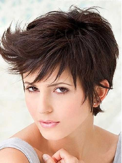 Razored pixie haircut