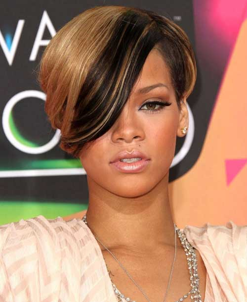Rihanna short hairstyles 2013