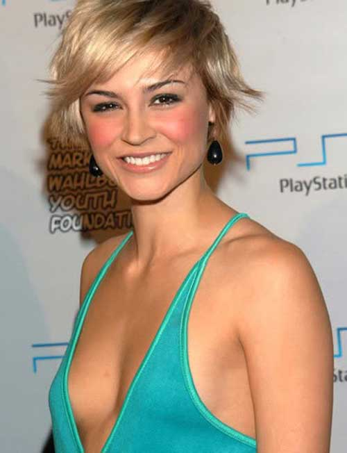 Short blonde celebrity hairstyles 2013