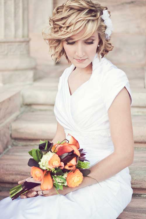 Short Hairstyles for Bridal