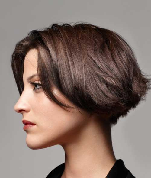 Hair Cutting Ladies : ... beautiful in this short messy haircut with a blonde hair color tone