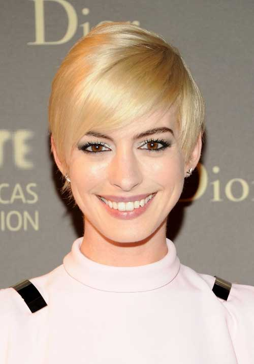 Short blonde celebrity hairstyles 2013
