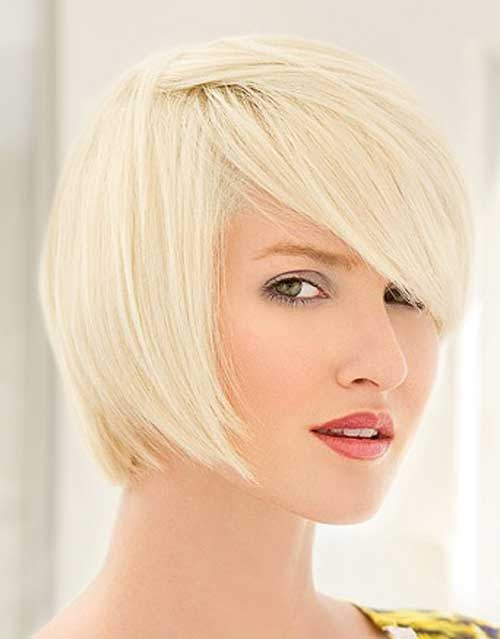 Short blonde hairstyles for thin hair